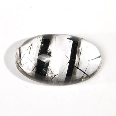 фотография Кабошон из кварца с включениями турмалина