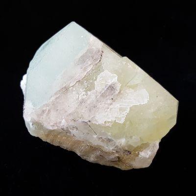 фотография Сросток кристаллов Данбурита голубого и светло зеленого